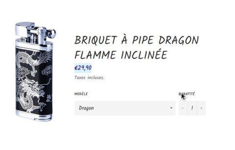 Briquet dragon pour pipe